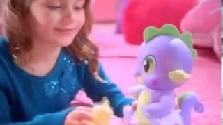 Pelúcia My Little Pony Bebê Spike Dragão e Rainbow Dash Hasbro na Kids e Cia