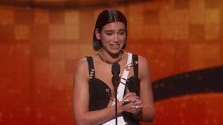 Dua Lipa Wins Best New Artist | 2019 GRAMMYs Acceptance Speech