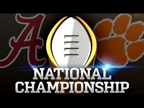 1 Alabama v. 2 Clemson 2017 CFP National Championship Highlights