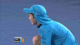Novak Djokovic Hits Ballkid In The Head   Australian Open 2013