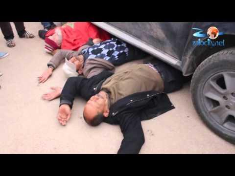 ZAIOCITYالخضارة يعتصمون تحت سيارة باشا زايو