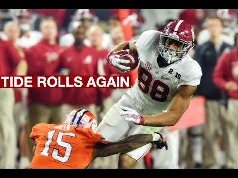 Alabama Crimson Tide 2016 National Title Game Highlights
