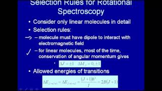 Selection rules for rotational spectroscopy