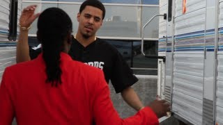 Wale Congratulates J. Cole Backstage at BET Awards 2013 | Exclusive Footage