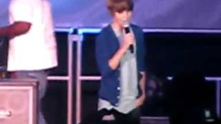 Justin Bieber singing With You by Chris Brown at 15