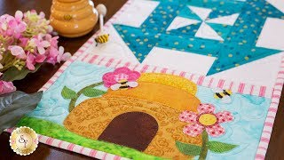 Easy Pieced Table Runner Series - June | a Shabby Fabrics Tutorial