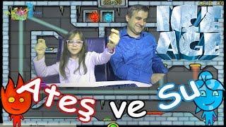 ATEŞ ve SU BUZ DEVRİ - BABAM vs BEN - Eğlenceli Oyun Videosu - Funny Games
