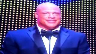 """Kurt Angle Sings """"Sexy Kurt"""" WWE Hall Of Fame 2017 Class Speech HBK Shawn Michaels Theme Song Parody"""