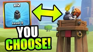 Clash Of Clans - NEW UPDATE FEATURES or WALLS!?! - YOU CHOOSE WHAT I UPGRADE!