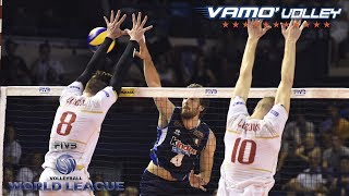 ALL BREAKS REMOVED - France vs  Italy - FIVB World League 2017 Pool Play