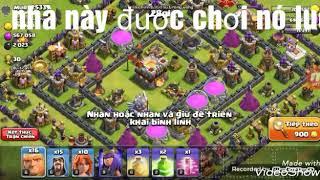 Chiếm nhà hall 11 hơi khó clash of clan-game mobile