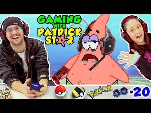 GAMING w PATRICK STAR FUNNIEST FGTEEV VIDEO Pokemon Go Jokes 20 Gen1 Pokedex Spongebob Style