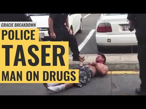 WARNING: Police Taser Man on Drugs at McDonald's (Gracie Breakdown)