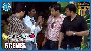 Ala Modalaindi Movie Scenes   Nani Friends Trying to Kidnap Nithya Menon   Thagubothu Ramesh