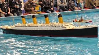 GIGANTIC RC TITANIC SCALE MODEL SHIP ON THE POOL / Intermodellbau Dortmund 2016