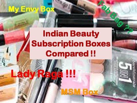 Comparing Beauty Subscription Boxes | Fab Bag | Lady Raga | MSM Box | My Envy box