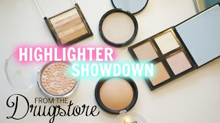 WHICH DRUGSTORE HIGHLIGHTER IS THE BEST? Highlighter Showdown!