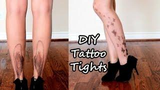 DIY Tattoo Tights