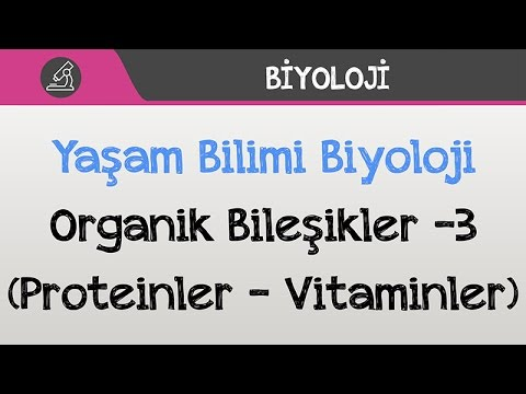 Yaşam Bilimi Biyoloji - Organik Bileşikler -3 (Proteinler - Vitaminler)