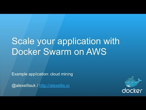 Deploy and scale an application on AWS with Docker Swarm