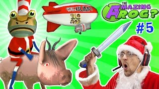 AMAZING FROG SANTA rides DEMON PIG! MERRY FARTING CHRISTMAS! Blimp Crashing - 3x Rollover | Part 5