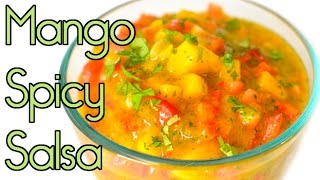 Sweet & Spicy Mango Salsa with Habanero - Fresh!