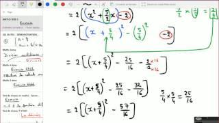 Forme canonique (Second degré) - 1ère S - Exercices corrigés.