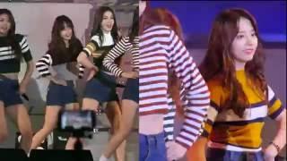 (IOI)   Sohye and Yoojung 아이오아이 (Joking while dancing)