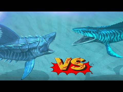 Megalodon Vs Mosasaurus - Biggest Sharks Battles | Jurassic World The Game