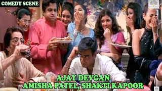 Ajay Devgan And Amisha Patel Comedy Scene On Dining Table | Zameer: The Fire Within