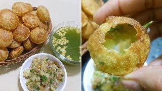 आटे के गोलगप्पे बनाने का सटीक तरीका Aate ke Golgappe, Crispy Pani Puri, Puchka recipe, آے کی گولگپلپ