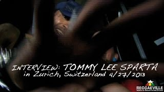 Interview: Tommy Lee Sparta in Zurich, Switzerland @ Alte Kaserne 4/27/2013