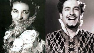 Rigoletto [part 1 of 3] - Callas, di Stefano (LIVE 1952 - Mexico City)