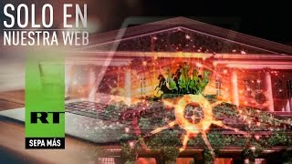 VIDEO 4K: Impresionante espectáculo de luz proyectado al Teatro Bolshoi  (4K Ultra HD Quality 2160p)