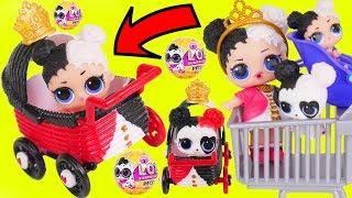 Heartbreaker Baby Custom Big LOL Surprise Dolls Strollers + Lil Sisters Shop in Skipper Barbie Video