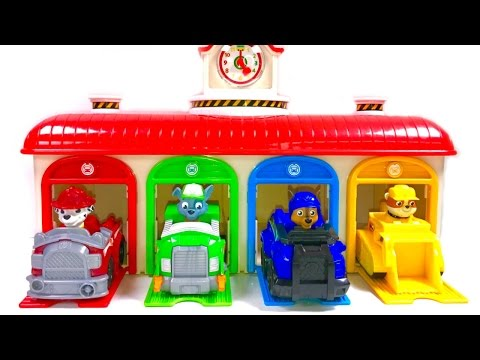 Best Learning Colors Video for Children Paw Patrol Little Bus Tayo Garage