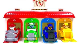 Best Learning Colors Video for Children - Paw Patrol Little Bus Tayo Garage