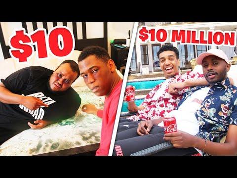 10 HOTEL VS 10 000 000 HOTEL CHALLENGE
