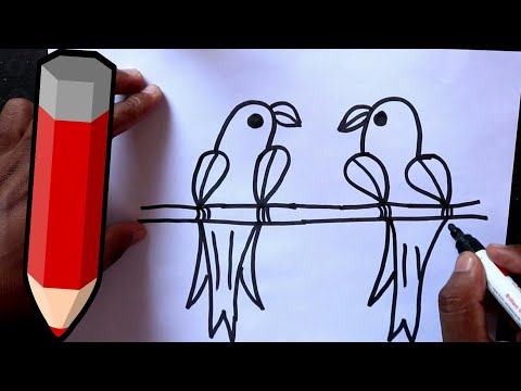Xxx Mp4 HINDI How To Draw Love Parrot From Number 2222 Step By Step Very Easy 3gp Sex