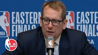 The Raptors were 'a step too slow' vs. the Bucks in Game 2 - Nick Nurse   2019 NBA Playoffs