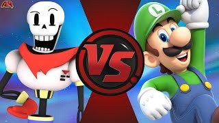 PAPYRUS vs LUIGI! (Undertale vs Nintendo) Cartoon Fight Club Bonus Episode 3