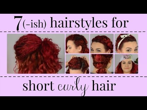 7(ish) Hairstyles for Short, Curly Hair   BeautyWithB