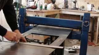 homemade press brake with reverse ram operation