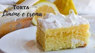 TORTA CREMA LIMONE e MERINGA Sofficissima  e facile  /RICETTE DI GABRI Kitchen Brasita