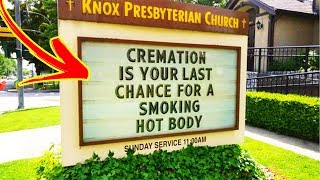 Genius Church Signs That Will Make You Laugh And Think「 funny photos 」