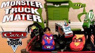 Cars Toon Monster Truck Mater Wrestling Ring Playset Disney Mater's Tall Tales Frankenwagon Monster