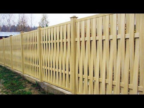 Как сделать забор на даче  с фото