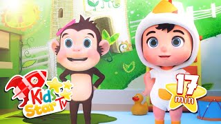 Five Little Monkeys Compilation - Favourite Nursery Rhymes and Kids Song - Kids Star TV