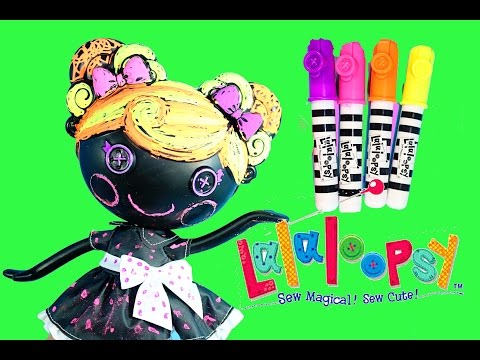 Lalaloopsy Color Me Doll Nick Jr. Paint Draw Stamp Erase Coloring Arts and Craft Toys Trace E