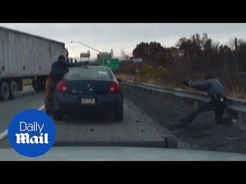 Xxx Mp4 Dash Cam Video Shows A Shootout That Injured A Pennsylvania Cop Daily Mail 3gp Sex